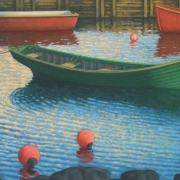 <b>Southwest Cove</b><br>2008<br>oil on canvas<br>25 x 40 inches