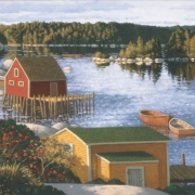 <b>Stillness at the Cove</b><br>2006<br>oil on canvas<br>20 x 32 inches