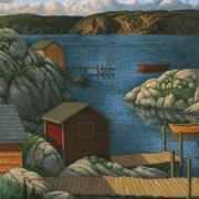 <b>The Bay</b><br>2005<br>oil on canvas<br>40 x 30 inches