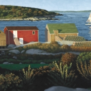 <b>View from West Dover</b><br>2006<br>oil on canvas<br>21 x 32 inches