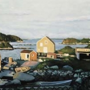 <b>West Dover</b><br>1998<br>oil on canvas<br>18 x 40 inhces