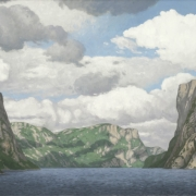 <b>Western Brook Pond</b><br>2010<br>oil on canvas<br>18 x 36 inches