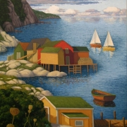 <b>Bay in Late Morning</b><br>2010<br>oil on canvas<br>40 x 30 inches