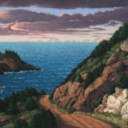 <b>Coast Road Cape Breton</b><br>2005<br>oil on canvas<br>26 x 38 inches
