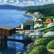 <b>East Coast Arrangement</b><br>1998<br>oil on canvas<br>33 x 68 inches