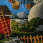 <b>At the Coast</b><br>2009<br>oil on canvas<br>60 x 30 inches