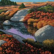 <b>Light Along the Coast</b><br>2007<br>oil on canvas<br>25 x 40 inches
