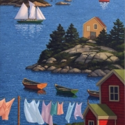 <b>Across the Bay</b><br>2007<br>oil on canvas<br>48 x 24 inches