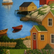 <b>Afternoon on the Coast</b><br>2011<br>oil on canvas<br>60 x 30 inches