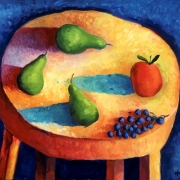 <b>The Chase</b><br>1996<br>oil on canvas<br>28 x 36 inches