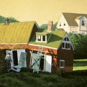 <b>Harold Weavers' Shed</b><br>1998<br>oil on canvas<br>36 x 48 inches