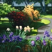 <b>Public Gardens</b><br>1998<br>oil on canvas<br>36 x 48 inches