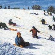 <b>Thaw at Gorsebrook</b><br>1998<br>oil on canvas<br>36 x 48 inches