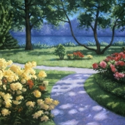 <b>Public Gardens in Spring</b><br>1998<br>oil on canvas<br>30 x 40 inches