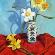 <b>Still Life With Daffodils</b><br>1996<br>oil on canvas<br>22 x 16 inches