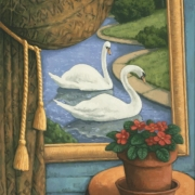 <b>Still Life With Swans</b><br>2007<br>oil on canvas<br>24 x 20 inches