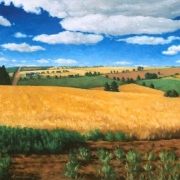 <b>Wheatfields</b><br>2000<br>oil on canvas<br>24 x 48 inches