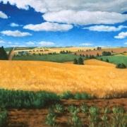 <b>Wheatfields</b><br/>2000<br/>oil on canvas<br/>24 x 48 inches