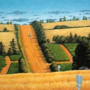 <b>Hillside, PEI</b><br>2000<br>oil on canvas<br>30 x 40 inches