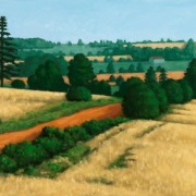 <b>Bonshaw Hillside</b><br>2004<br>oil on canvas<br>14 x 22.5 inches