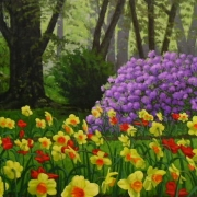 <b>In the Gardens</b><br/>2007<br/>oil on canvas<br/>30 x 40 inches