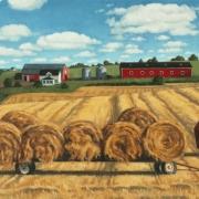 <b>Farm, Prince Edward Island</b><br/>2005<br/>oil on canvas<br/>18.5 x 30 inches