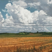<b>Fields at Grand Pre</b><br>1998<br>oil on canvas<br>30 x 67.5 inches