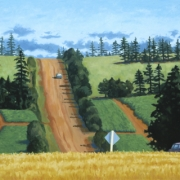 <b>Potato Fields, Prince Edward Island</b><br>2002<br>oil on canvas<br>40 x 30 inches