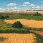 <b>Shoreline, Prince Edward Island</b><br>2004<br>oil on canvas<br>12 x 24 inches