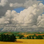 <b>Summer Sky</b><br>2006<br>oil on canvas<br> 18 x 36inches
