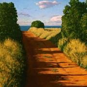 <b>Road to the Water</b><br/>2008<br/>oil on canvas<br/>34 x 40 inches