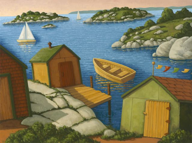 Hannon_Sheds_Along_the_Sea30x40